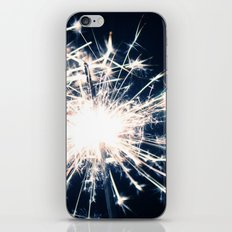 Silver Sparkler iPhone & iPod Skin
