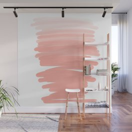 Modern abstract pink coral ombre brushstrokes pattern Wall Mural
