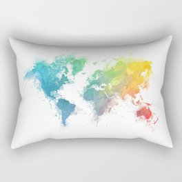 World Map splash 1 Rectangular Pillow