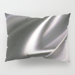 Silver Satin Pillow Sham