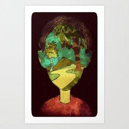 Un Rostro Natural - Face of Nature Art Print