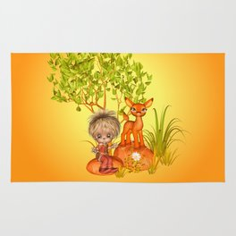Orange rocks baby Rug