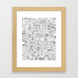 Frenetic City Framed Art Print