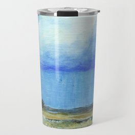 A Perfect Storm, Abstract Landscape Art Travel Mug