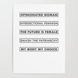 Feminist Statement Art, Stickers, Shirts, Mugs, Prints... Poster
