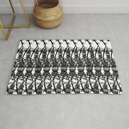 Black & White Thistle repeat Rug