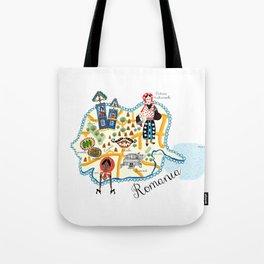 Romania Map Tote Bag