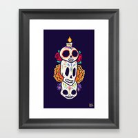 Caliveras Day of the Dead Framed Art Print