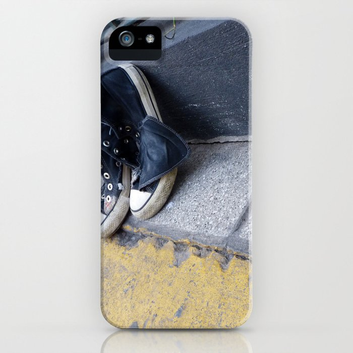 Alone on the street iPhone Case