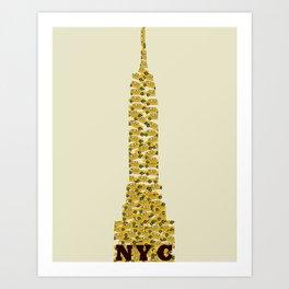 empire state nyc (mini) Art Print