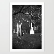 Wonderland in black and white Art Print