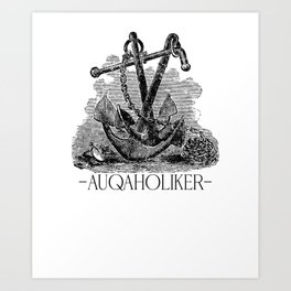 North Sea Gifts North Sea T-shirt Aquaholic Art Print