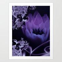 fleur du mal - lilac Art Print