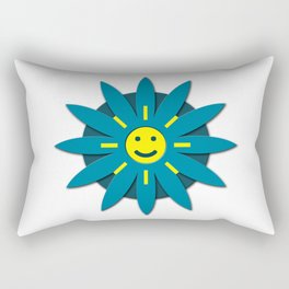 Smiley flower Rectangular Pillow