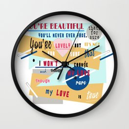nelly furtado I'm like a bird lyrics Wall Clock