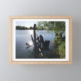 By the pond Framed Mini Art Print