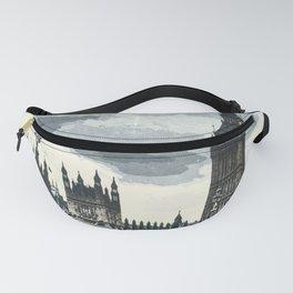 London, Westminster, Big Ben / Vintage style poster Fanny Pack