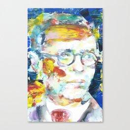 SARTRE - portrait.2 Canvas Print