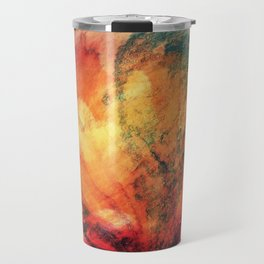 A leaf In The Wood Aflame Abstract Travel Mug