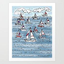 Sail Away - Day #24 Art Print