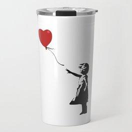 Girl with Balloon - Banksy Graffiti Travel Mug