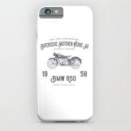 Vintage German Motorcycle T Shirt, 1958 Retro Bikers Model iPhone Case