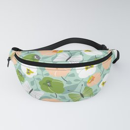 Butterfly Blossom Floral - Sage Green Fanny Pack