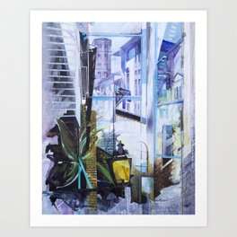 Untitled 1 - (città toscana) Art Print