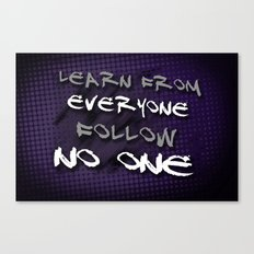 Follow No One Canvas Print