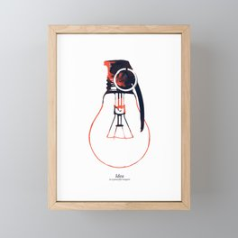 Idea Bomb (2) Framed Mini Art Print