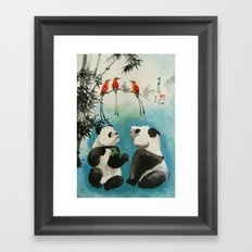trio orchestra Framed Art Print