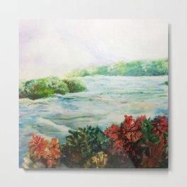Serene - Niagara Falls Metal Print