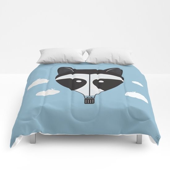 Hot Air Raccoon Comforters