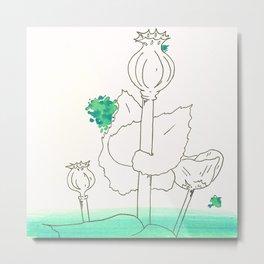 Poppy Seed Wash Metal Print