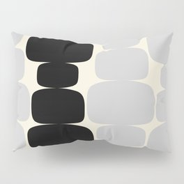 Abstraction_Balance_ROCKS_BLACK_WHITE_Minimalism_001 Pillow Sham