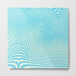 surreal swirl (blue) Metal Print