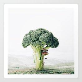 Broccoli House Art Print
