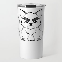 """I Hate Everyone Funny Cat"" tee for fur parents and pet lovers out there! Cutest gift ever!  Travel Mug"