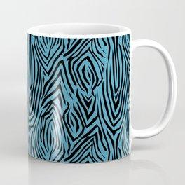 Black and blue abstract pattern. Zebra . Coffee Mug