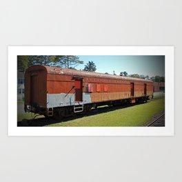 Railway Mail Car Art Print