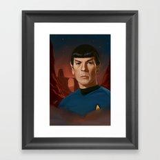 Mr. Spock Framed Art Print