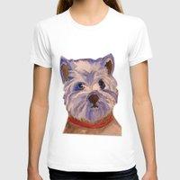 westie T-shirts featuring West highland terrier Westie dog love by Gooberella