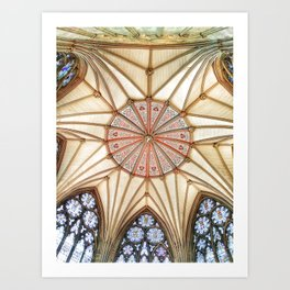 Chapter House at York Minster Art Print