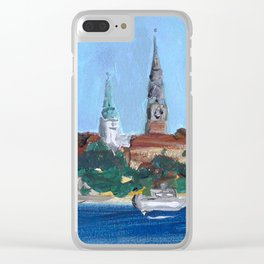 Pearl of the Baltics Clear iPhone Case