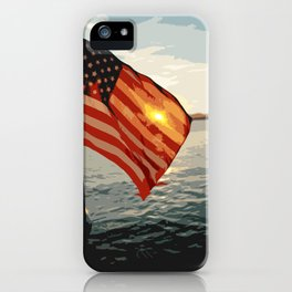 Patriot's Sunset iPhone Case