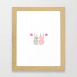 BUNNY LOVE - VALENTINE'S DAY Framed Art Print