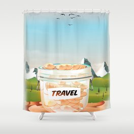 Travel Jar Shower Curtain