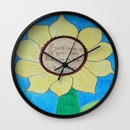 The gardens of Buckingham and Nicks Wall Clock