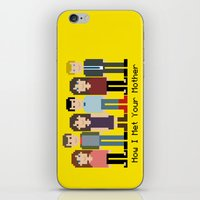 how i met your mother iPhone & iPod Skins featuring How I Met Your Mother by Evelyn Gonzalez