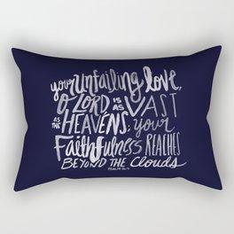 Psalm 36: 5 x Navy Rectangular Pillow